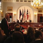 Driessen returns to his seat after testifying before a U.S. Congressional Subcomittee, February 4, 2004