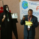 Niger Innis presents awards during CFACT's Green Power - Black Death ceremony.
