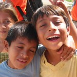 Children of Valle Verde are all smiles during the food donation program in the village.